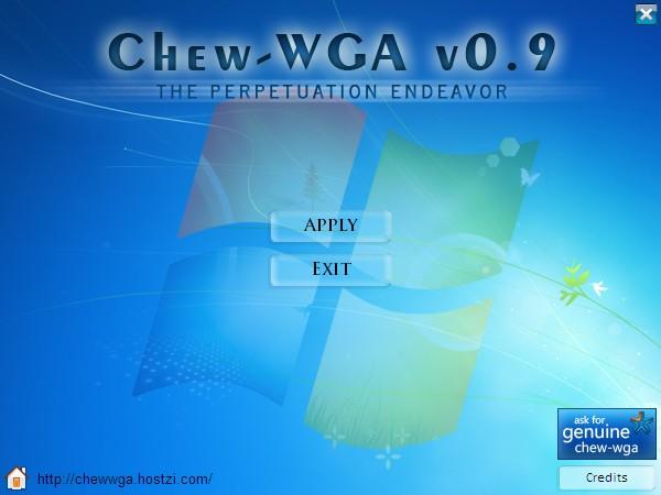 WIN7激活软件Chew-WGA0.9完美激活(适用任何机型)
