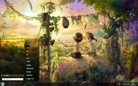 梦幻女孩森林手绘图片