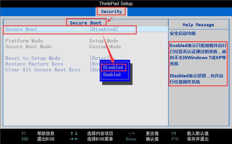 ThinkPad T450笔记本UEFI U盘启动