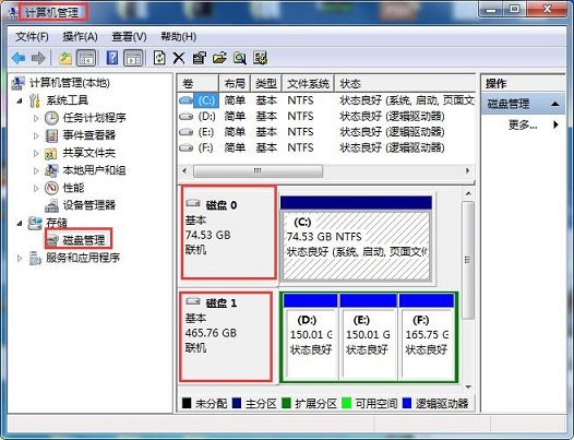 [u盘装系统]双硬盘中ssd安装uefi win7系统