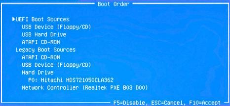 [BIOS设置U盘启动]HP Holly主板BIOS设置U盘启动