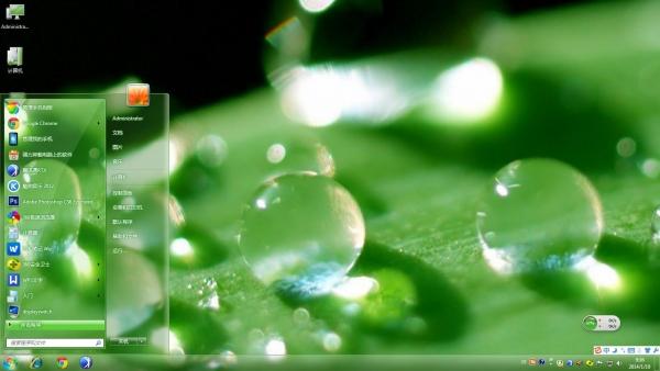 绿渗水珠风景主题下载