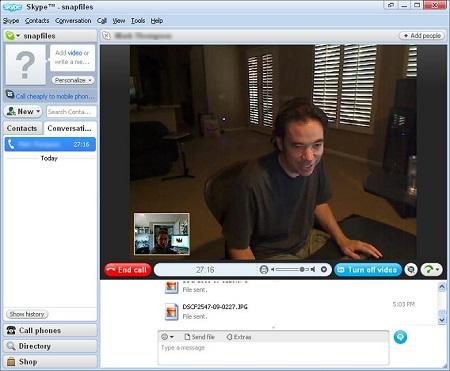 Skype网络语音绿色版下载