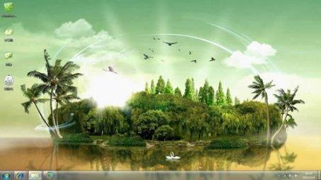 岛屿幻象美丽风景主题下载