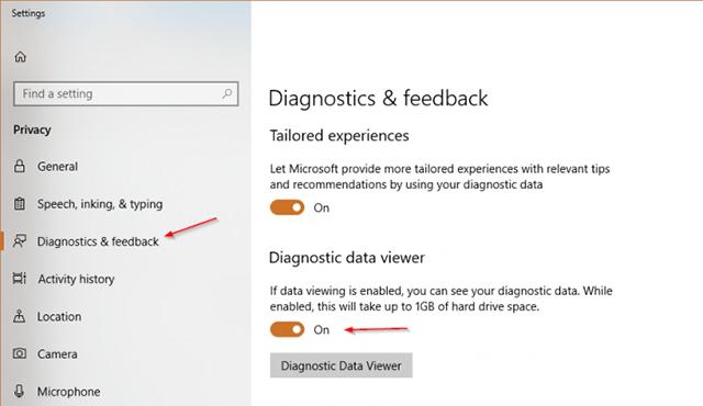 Windows10:如何启用诊断数据查看器?