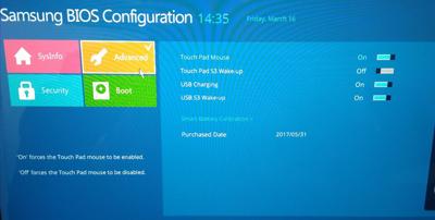 三星3500EM-X01笔记本电脑BIOS修改U盘启动的操作方法